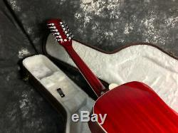 12 Strings Hummingbird 41'' Electric Acoustic Guitar Fishman EQ Solid Spruce