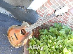 1930's KAY KRAFT Venetian 2 Point Guitar, Original case, Acoustic, Kay, Stromberg