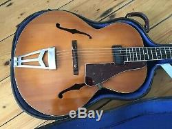 1940s Abbott Victor Burlington III Archtop Guitar Made in England + Case