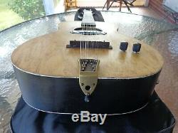 1950's Chris Double Tenor Guitar Chicago Tuning Acoustic Electric