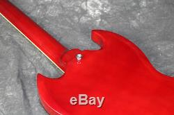 1961's G- SG400 Standard Electric Guitar Cherry Color Full Pickguard Solid Body
