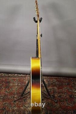 1968 Coral Vincent Bell Combo Sunburst Acoustic Electric Guitar By Danelectro