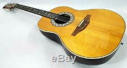 1982 Ovation 1655 Custom Balladeer 12-String Acoustic/Electric Guitar Nice