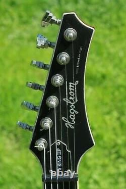 2009 Hagstrom Viking 11P Ultralux Semi Acoustic Electric Guitar + Hard-Case
