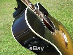 2013 Gibson USA Hummingbird Pro CE Acoustic Electric Guitar Sunburst with Fishman
