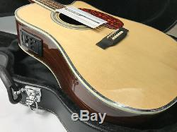 2018 Top Quality Cutway Electric Acoustic Guitar Solid Spruce Fishman Bone Nut