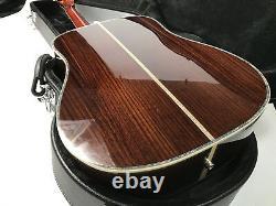 2018 Top Quality Electric Acoustic Guitar Ebony FG Solid Spruce Fishman Bone Nut