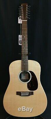 2020 Martin D-X2E 12-String Dreadnought Acoustic-Electric Guitar Natural with Bag