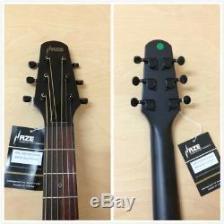 38 Haze 836CEQSMN Matt Natural Electric-Acoustic Guitar, EQ, Round-Back+7 Gifts