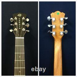 40 Caraya OM Cutaway Electric-Acoustic Guitar, Spalt Graphic+Bag GYPSY-CEQ/GC