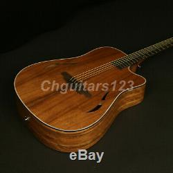 41In Electric Acoustic Guitar With Pickups Spruce Top and Walnut Backside
