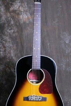 41'' J-45 Electric Acoustic Guitar Rosewood BackSide Bone Nut Grover Tuner