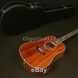 41in D Shape High Quality Handmade Electric Acoustic Guitar Full Koa Fishman 101