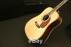 41in High Quality Handmade Electric Acoustic Guitar Solid Spruce Top Fishman 101