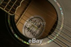 43In Jumbo Electric Acoustic Guitar Solid Spruce Top Grover Real Abalone Inlay