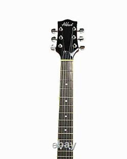 Alden AD 133 Semi Acoustic Cherry Red Hollow Body Left Handed Electric Guitar ES