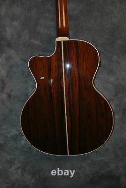 Aria Sandpiper Pro Acoustic Electric Guitar with Case Natural Cutaway Fishman NEW