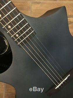 B-STOCK Lindo Neptune Matt Black Electro Acoustic Guitar