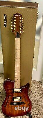 Carvin AE185 -12 String Acoustic/Electric Thinline Hybrid Kiesel Guitar withOHSC