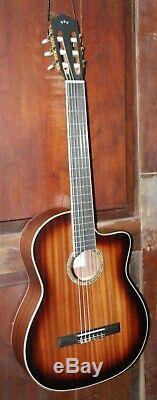 Cordoba C4-CE Sunburst Nylon String Classical Acoustic-Electric Mahogany Guitar