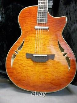 Crafter SA-QMOS electric Acoustic Hybrid Guitar. New. Hard case. Low action