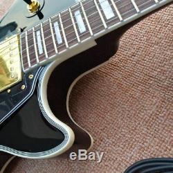 Custom 1957 3 Pickup Bigsby Black Beauty LP Electric Guitar FREE SHIPPING