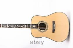 D45 Acoustic Electric Guitar Abalone Rosewood BackSide Fishman 101 Spruce Top