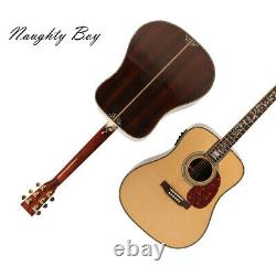 D45 Electric Acoustic Guitar Fishman 101 Solid Spruce Top Full Abalone Inlay
