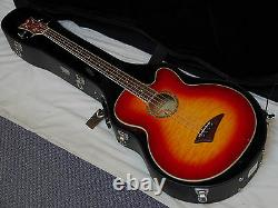 DEAN Performer Acoustic Electric BASS guitar NEW Cherry Sunburst with DEAN CASE