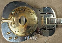 Dean Chrome G Acoustic-Electric Resonator Guitar, Piezo & Lipstick PUs, Rosewood