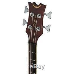 Dean Natural Gloss Acoustic Electric 4-String Bass Guitar, 34 Scale #EAB