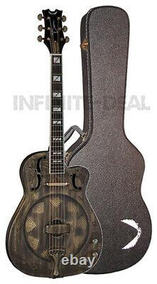 Dean RESCEHB Thin Body Acoustic/Electric Resonator Guitar Brass Plated with Case