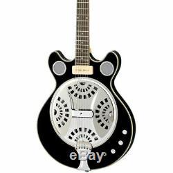 Eastwood Guitars Delta 6 Baritone Black Electric / Acoustic Resonator Guitar