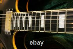 Edwards E-SA-138LTS Black Semi-Acoustic Electric Guitar with Hard Case from JP