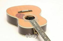 Electric Acoustic Guitar 00045 Solid Spruce Top Full Abalone Inlay Fishman 101
