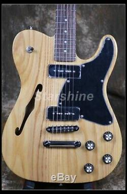 Electric Guitar Custom Style ASH Body P90 Pickups Black Pickguard CC-TL50