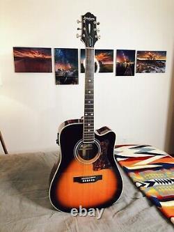 Epiphone Masterbilt DR-500MCE Acoustic Electric Guitar, Vintage Sunburst