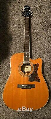 Epiphone Masterbilt DR-500MCE Acoustic/Electric Guitar withNew Gator HSC