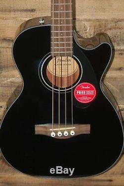 Fender CB-60SCE Cutaway Acoustic Electric Bass Guitar- Black NEW