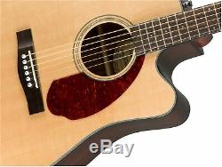 Fender CD-140SCE Dreadnought Acoustic-Electric Guitar Natural with Hard Case