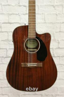 Fender CD-60SCE Solid Top Dreadnought Acoustic-Electric Guitar All Mahogany d
