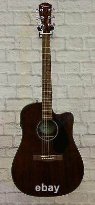 Fender CD-60SCE Solid Top Dreadnought Acoustic-Electric Guitar All Mahogany t