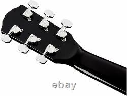 Fender CD-60SCE Solid Top Dreadnought Acoustic-Electric Guitar Black with Gig Ba