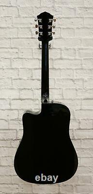 Fender FA-125CE Dreadnought Cutaway Acoustic-Electric Guitar Sunburst scratch