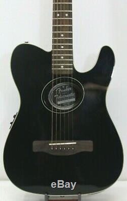 Fender Original Telecoustic Acoustic Electric 6 String Guitar (BLK) Fast Ship
