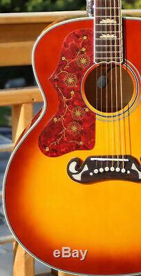 Fishbone Acoustic 43 J200 Model Jumbo BLK200-CB Cherry Burst Left Handed
