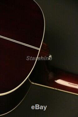 G-160CE Electric Acoustic Guitar Solid Spruce Top Bone Nut &Saddles Best Sound