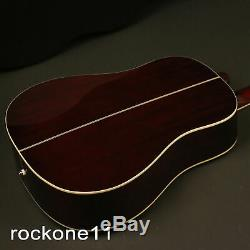 G-160CE Electric Acoustic Guitar Solid Spruce Top Bone Nut Saddles Free Shipping