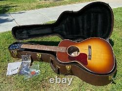 Gibson L-00 Lefty Left Handed Acoustic Electric Guitar with Martin Strings