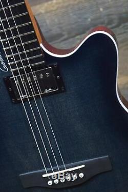Godin A6 Ultra Denim Blue Flame B-Stock Acoustic El. Guitar withBag #19052346